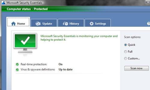 Microsoft Security Essentials (Windows XP 32-bit) 1.0.1963.0 RU